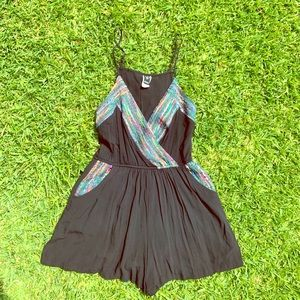 Multi Colored Windsor Romper with Pockets!!!